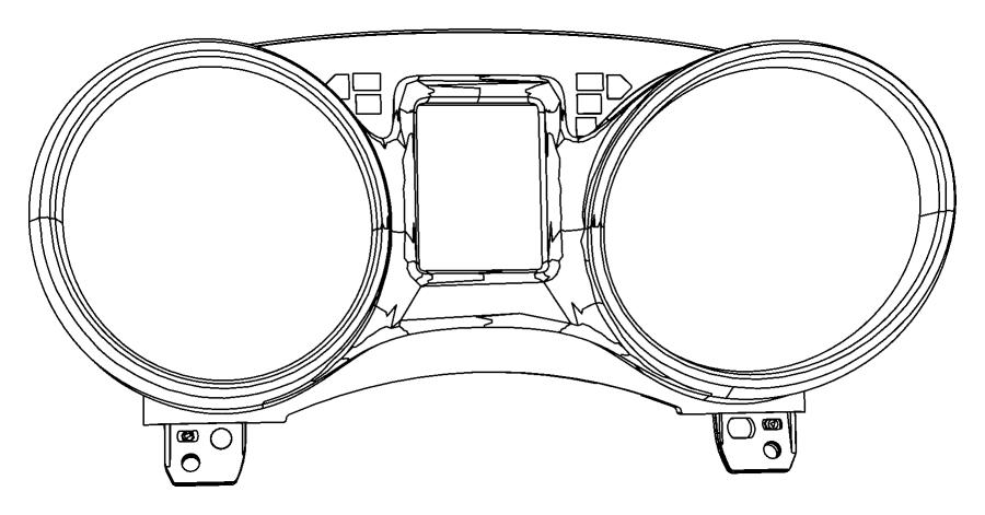 2014 Dodge Journey Cluster. Instrument panel. Export