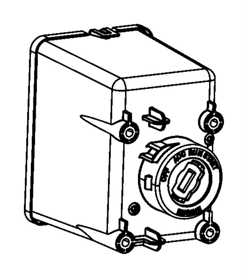 2012 Dodge Dart Module. Ignition switch. Instrument
