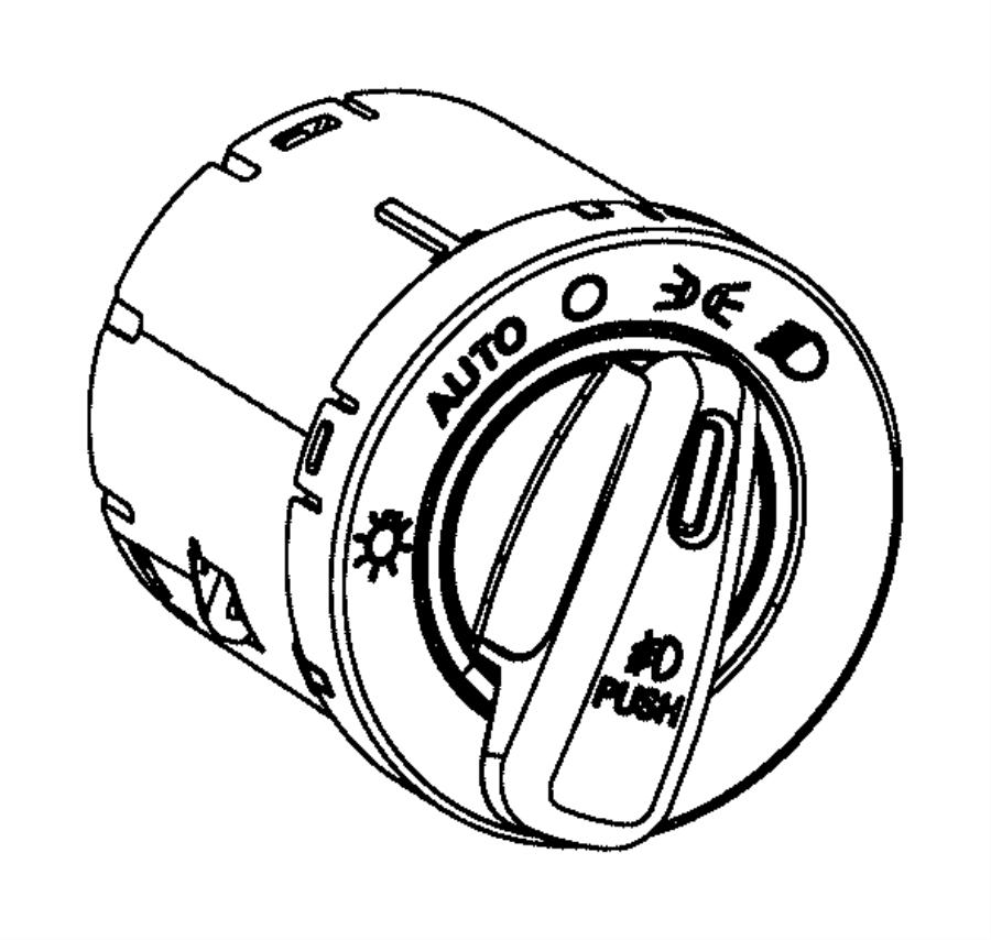2013 Dodge Dart Switch. Headlamp. Fog, headlamps