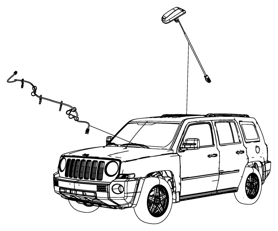 2017 Jeep Patriot Wiring. Satellite digital audio. Overlay