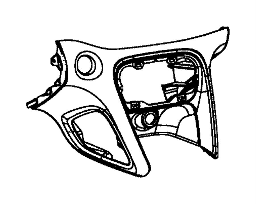 Dodge Dart Bezel. Instrument panel. Center. Trim: [*o0