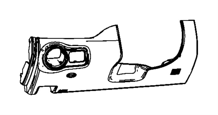 2012 Dodge Dart Cover. Steering column opening. Trim: [no