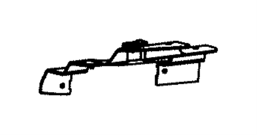 2013 Dodge Dart Bracket. Exhaust tip. Right. [front