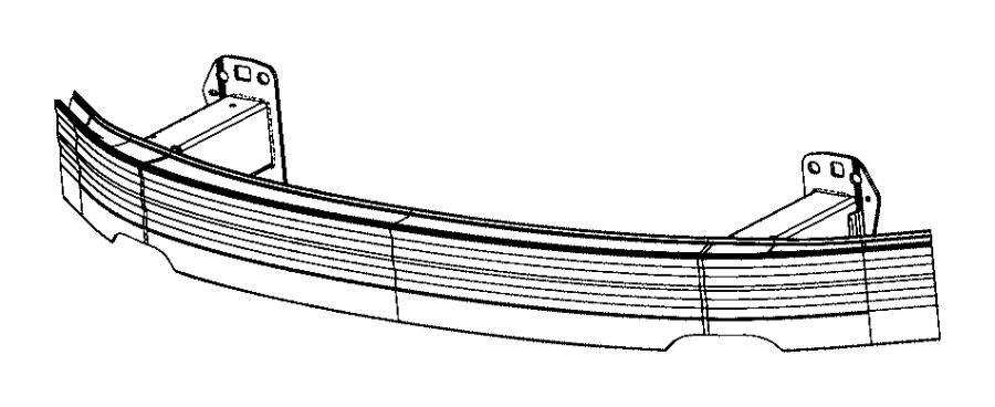 2017 Chrysler 200 Reinforcement. Front bumper. [front end