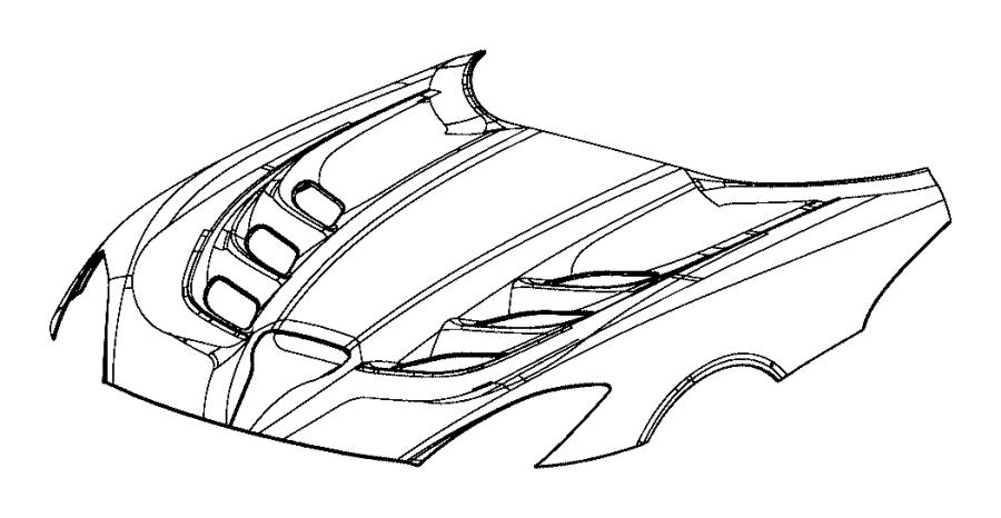 Dodge Viper Hood. [hood power bulge], [body panel parts