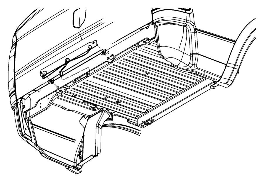 2008 Dodge Ram 3500 Lamp bar. Tailgate. [box and rear