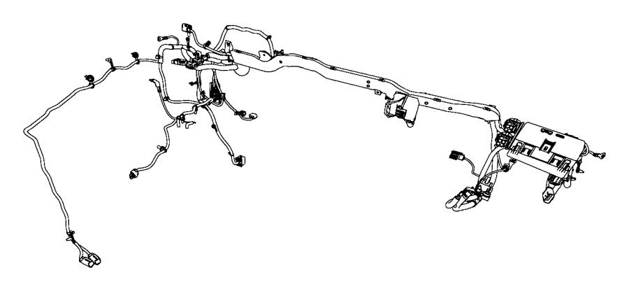 2016 Ram 3500 Wiring. Dash. [man shift-on-the-fly transfer