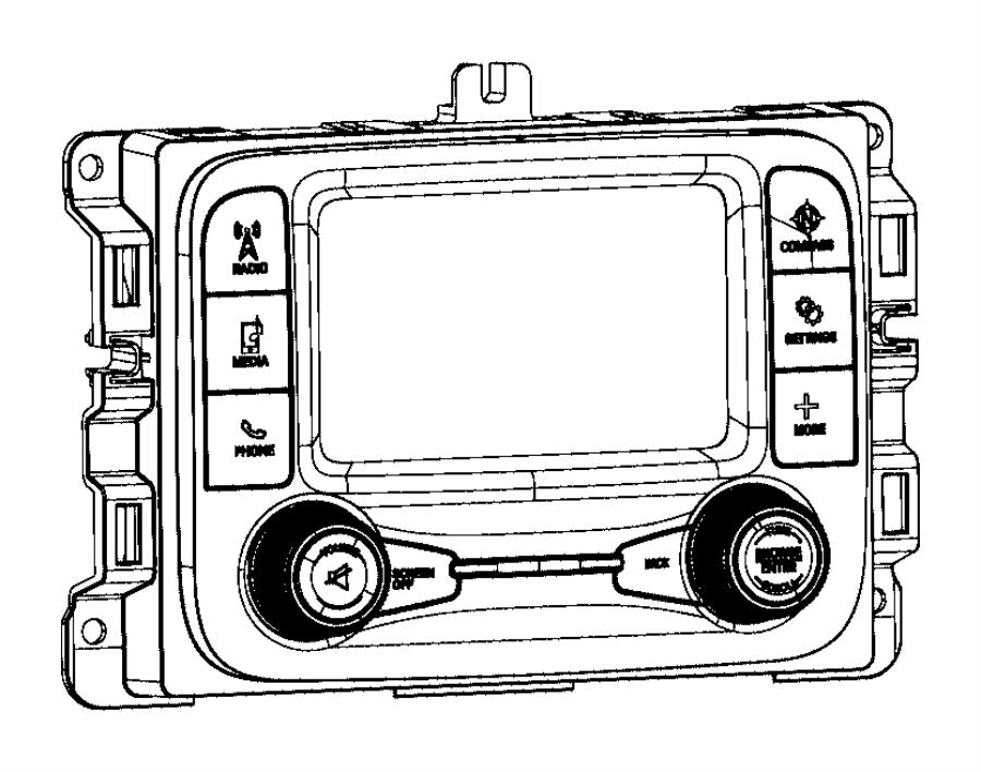 Ram 2500 Radio. Multi media. [instrument panel parts