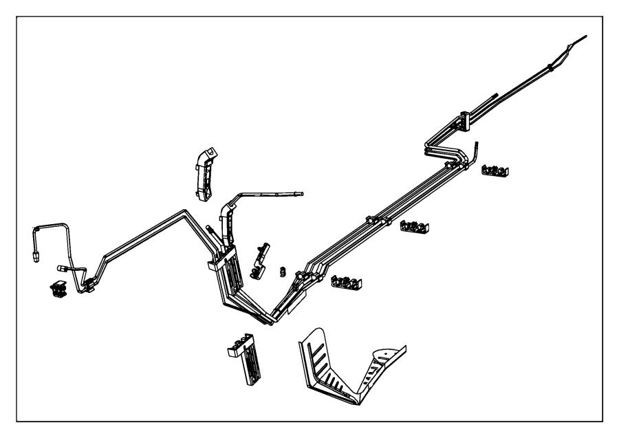 2011 Dodge Charger Clip. Fuel bundle. 3 line, 3 line