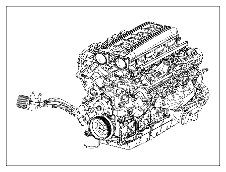 Dodge Viper Engine. Long block. Service, electronic