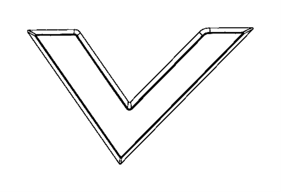 Dodge Viper Nameplate. Viper. Color: [no description