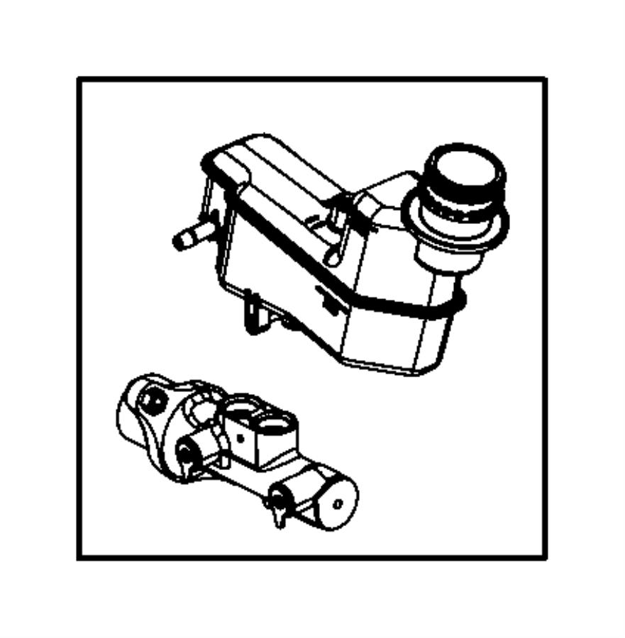 2014 Dodge Dart Master cylinder. Brake. [6-spd c635 manual
