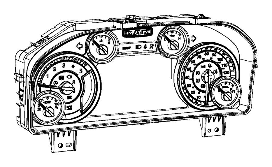 2016 Ram 3500 Cluster. Instrument panel. Speedometer