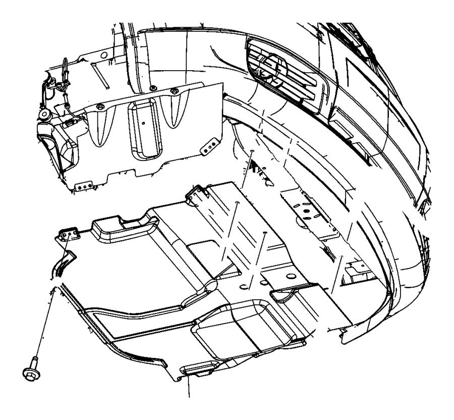 2014 Ram C/V Belly pan. Front. [2.8l i4 turbo diesel