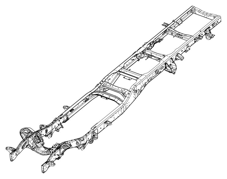 2017 Ram 5500 Frame assembly. Chassis. Mopar, complete