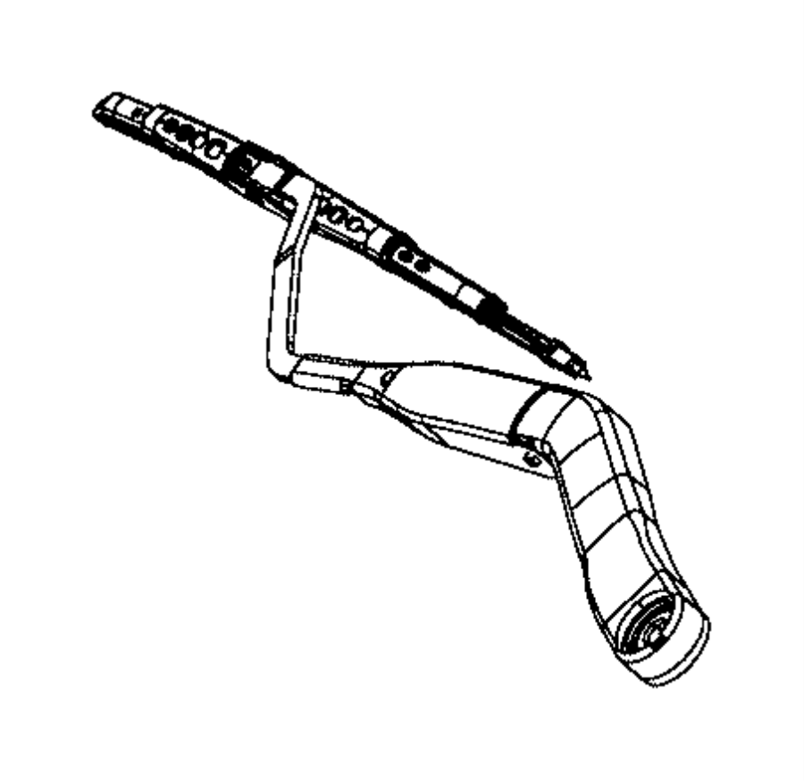 2016 Ram 1500 Arm. Front wiper. Right. Right, up to 10/10