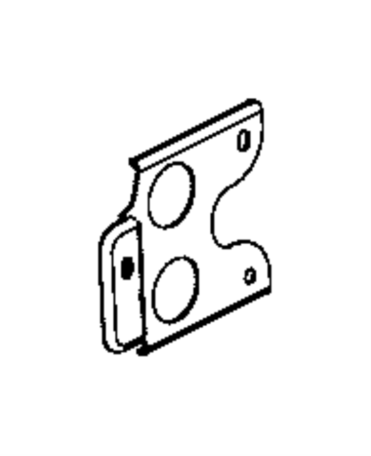 2015 Ram 1500 Bracket. Engine wiring. Front support, front