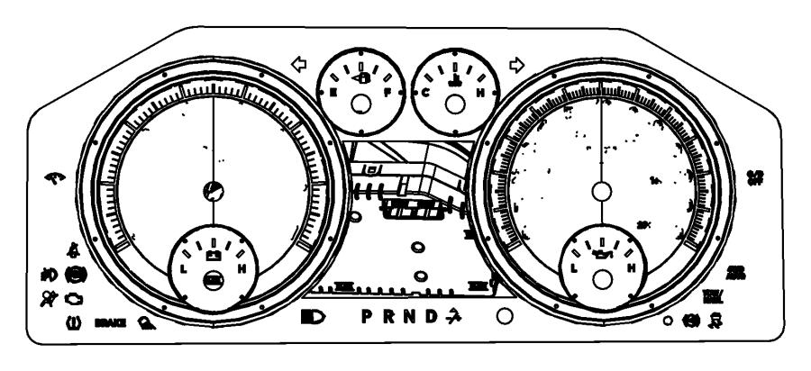 2016 Ram 1500 Cluster. Instrument panel. Module, primary