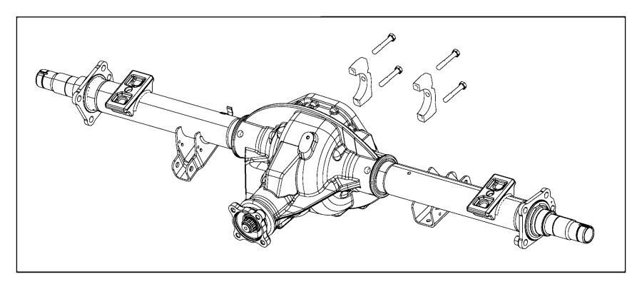 2015 Ram 3500 Housing. Rear axle. Ratio, spin, suspension