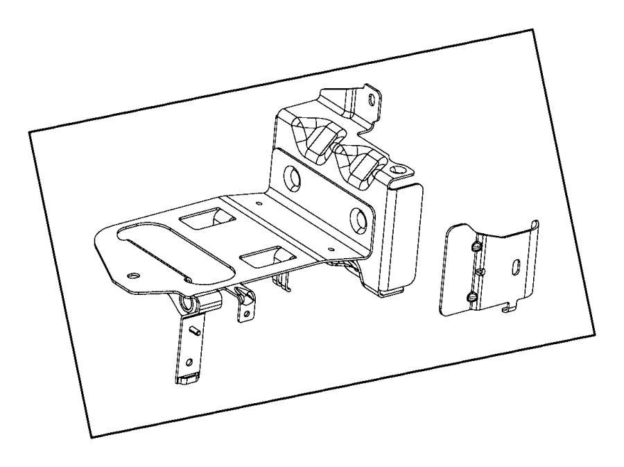 2009 Dodge Ram 1500 Bracket. Leak detection pump filter