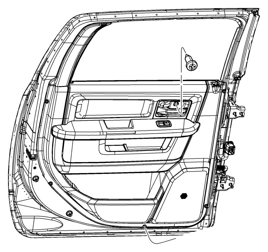 2013 Dodge Ram 1500 Panel. Rear door trim. W/o applique