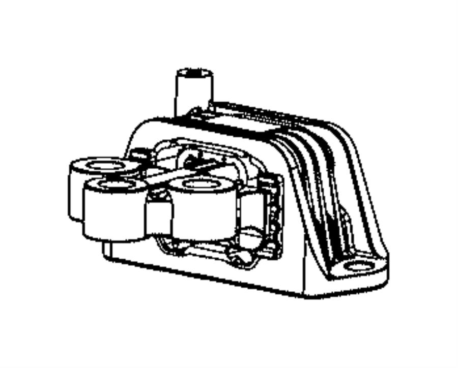 Fiat 500L Isolator. Transmission mount. Engine, mounting