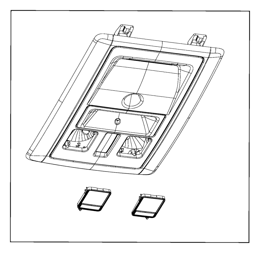 Ram 2500 Console. Overhead. Trim: [no description