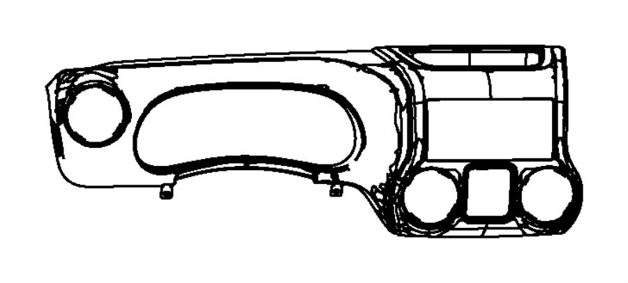2015 Jeep Wrangler Bezel. Instrument cluster. Left hand