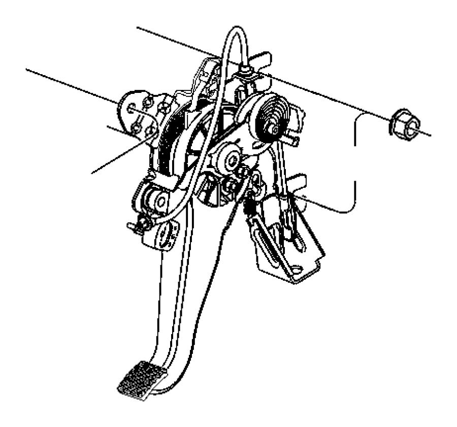 Dodge Challenger Pad. Parking brake pedal. [6-speed manual