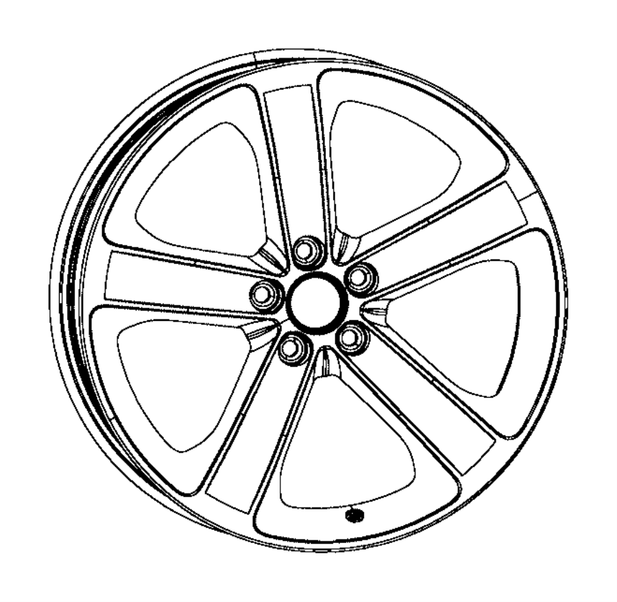2015 Dodge Charger Wheel. Aluminum. Front or rear. [tire