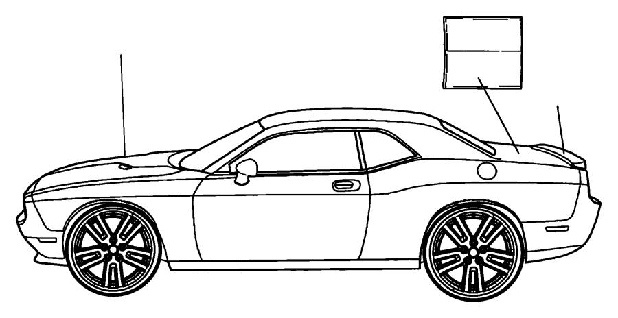 2016 Dodge Challenger Decal. Valance. [quad black center