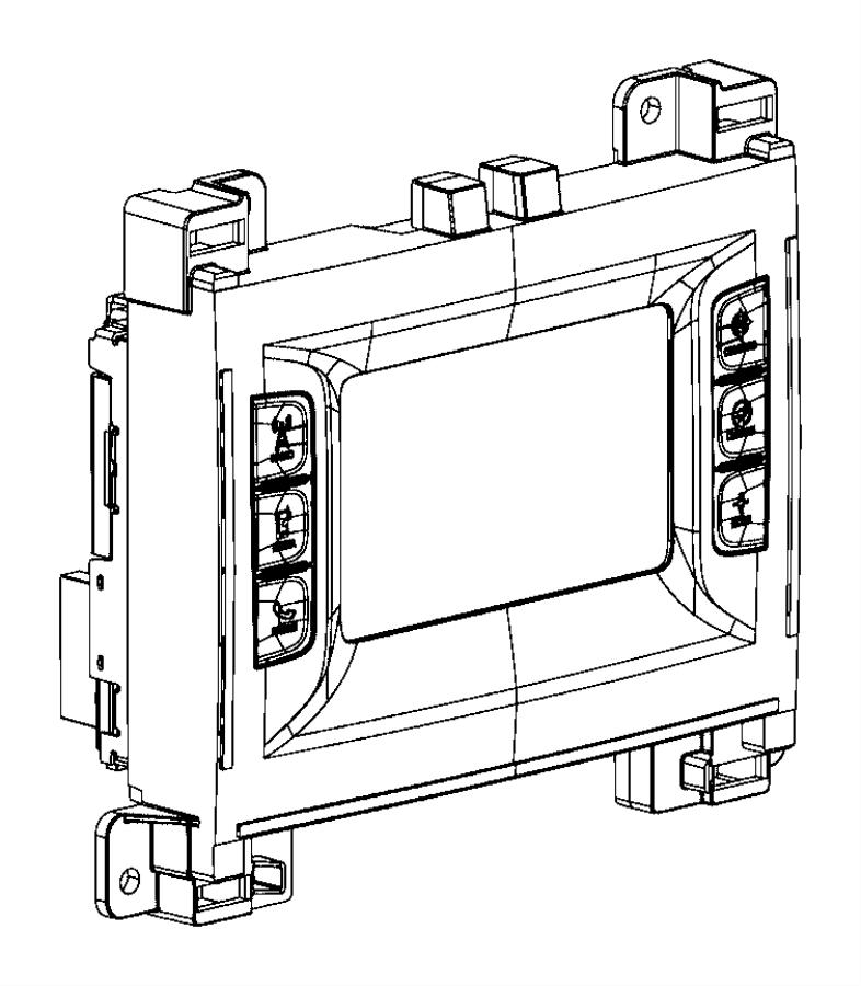 Dodge Challenger Radio. Multi media. [instrument panel