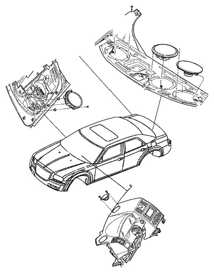2015 Dodge Charger Speaker. Sub woofer. Shelf panel. High