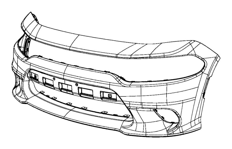 2019 Dodge Charger Applique. Fascia. [front fascias parts