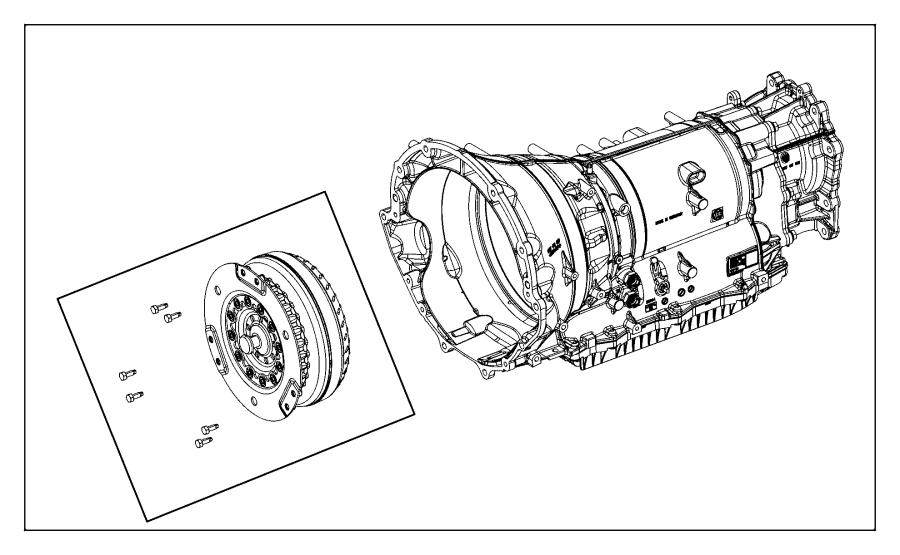 2017 Chrysler 300 Transmission. With torque converter