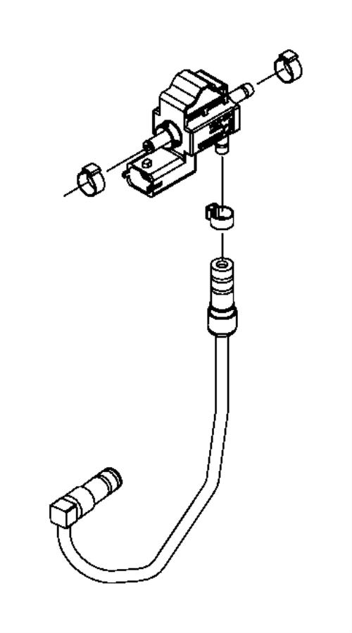 2016 Jeep Renegade Solenoid, valve. Turbo purge, waste