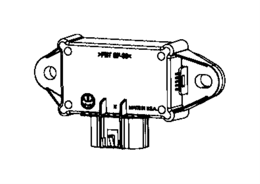2017 Chrysler Pacifica Module. Fuel pump control. Body