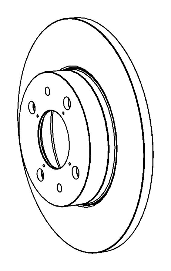 2017 Fiat 500L Rotor. Brake. Rear. Magneti marelli