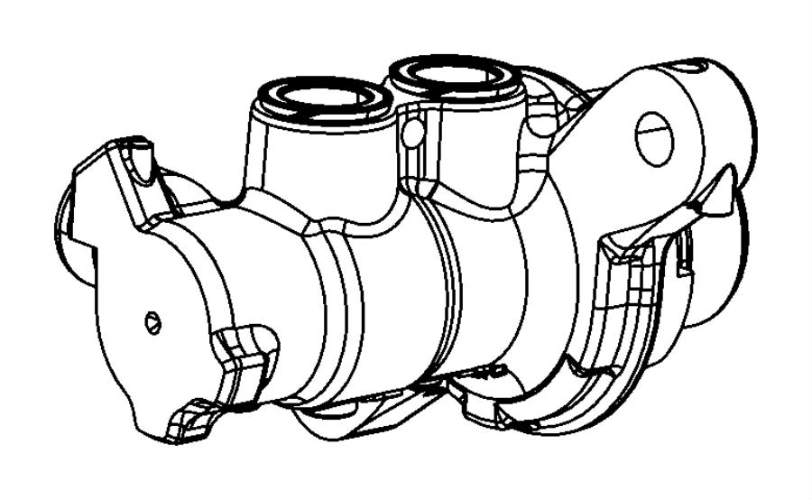 2018 Fiat Master cylinder. Brake. Export, mexico. [6-spd