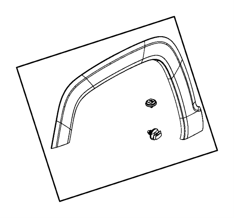 2016 Jeep Renegade Clip. Side molding. Export. Trim: [no