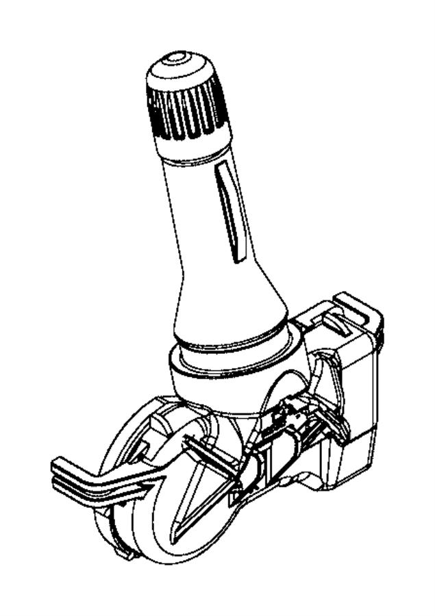 2016 Jeep Renegade Sensor. Tire pressure. Monitoring