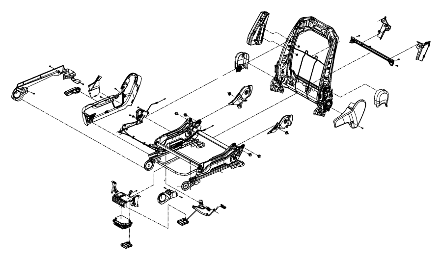 2017 Jeep Grand Cherokee Bracket. Seat, recliners