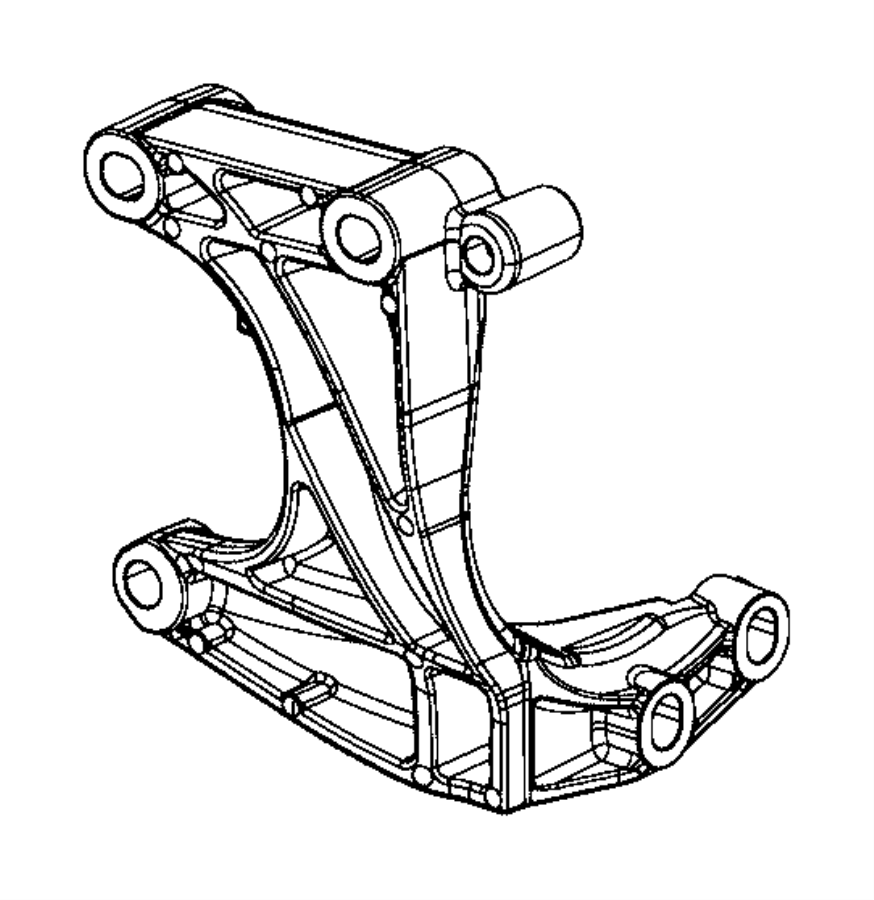 2016 Jeep Renegade Bracket. Power transfer unit