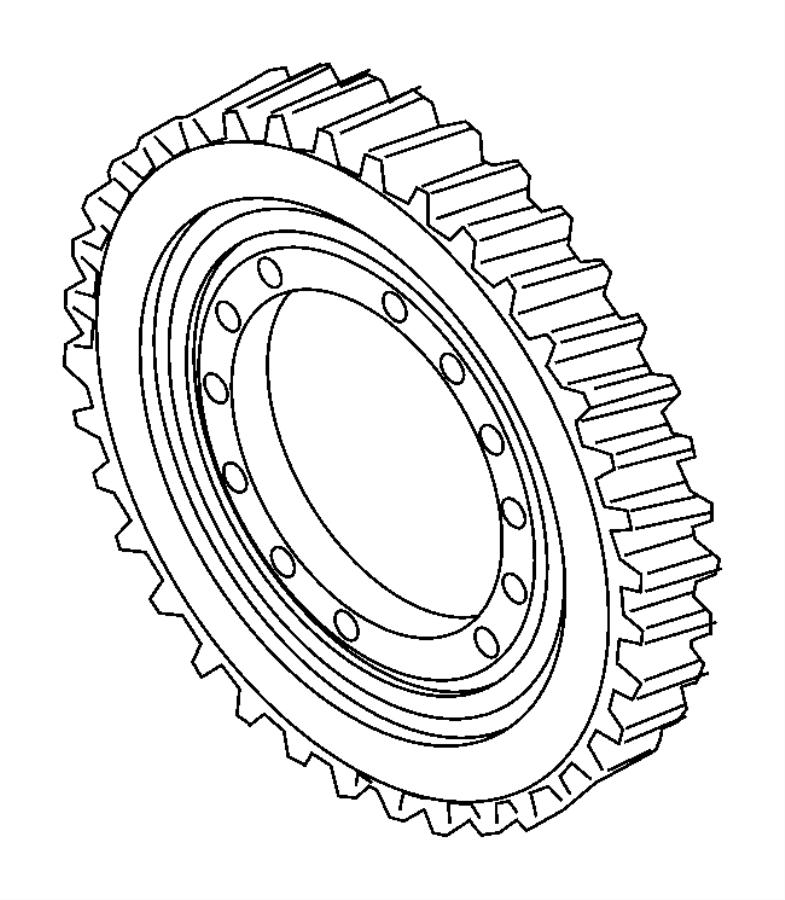 2012 Dodge Dart Gear. Differential ring. Train, module
