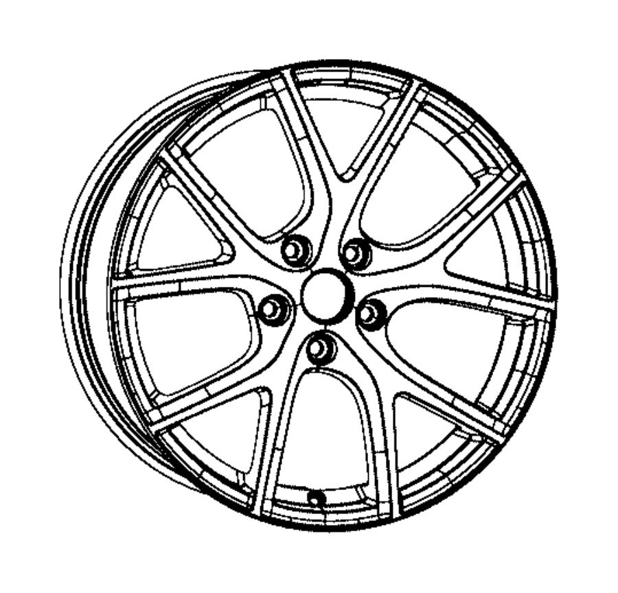 2017 Jeep Grand Cherokee Wheel. Aluminum. Front or rear