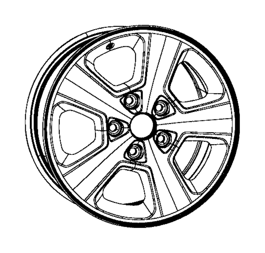 2016 Jeep Grand Cherokee Wheel. Aluminum. Used for: front
