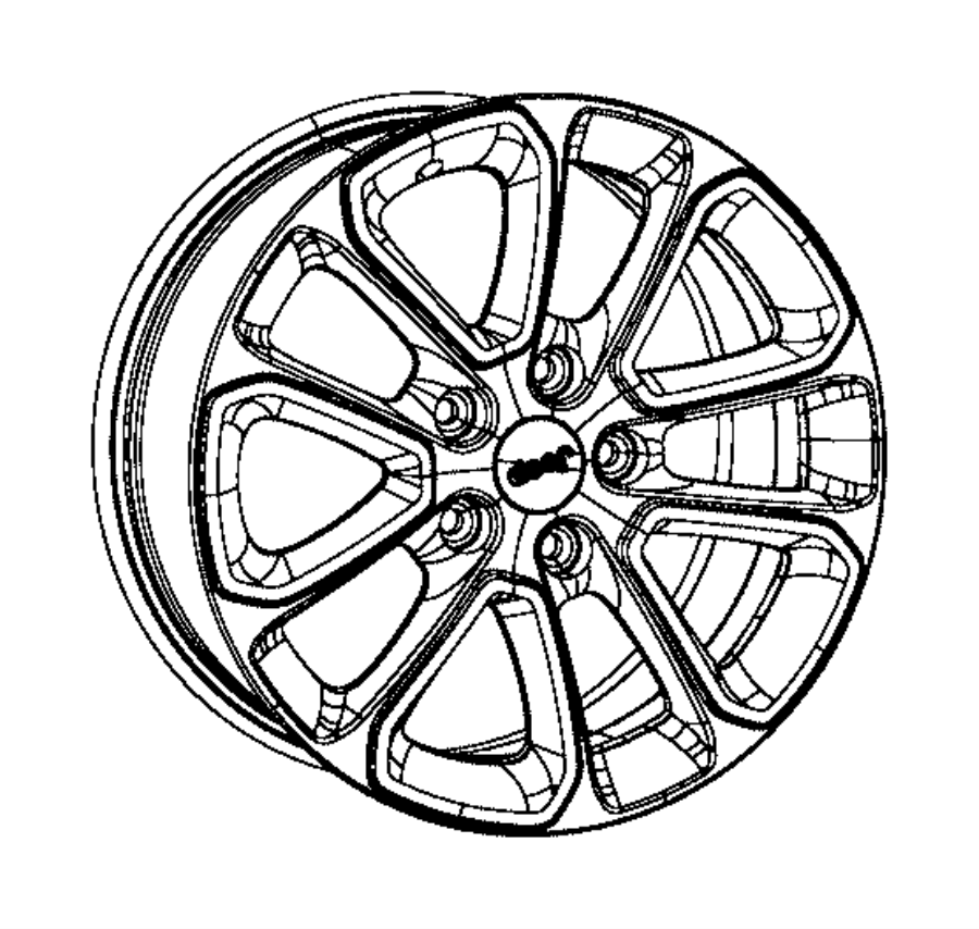 2016 Jeep Grand Cherokee Wheel. Aluminum. Front or rear