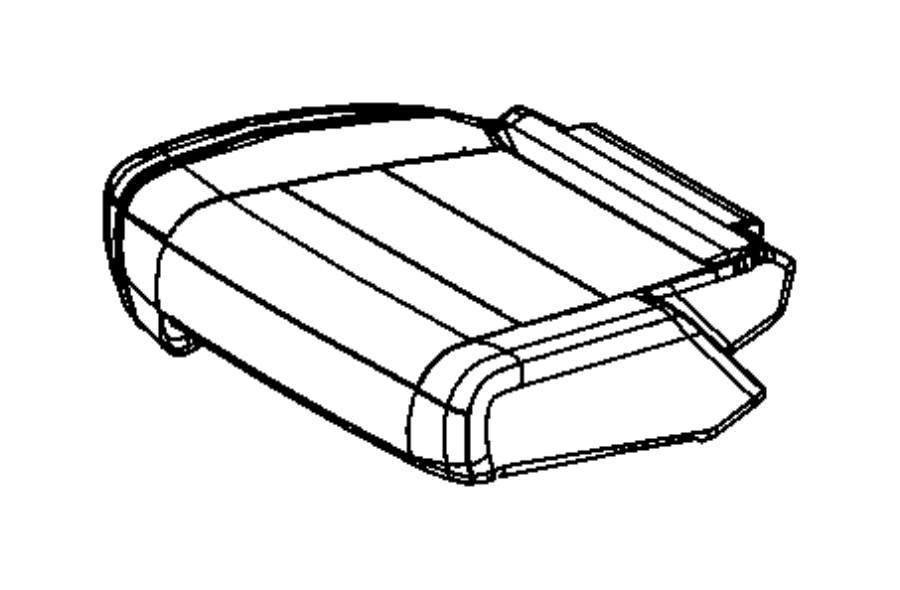 2017 Jeep Grand Cherokee Cover. Rear seat cushion. Left