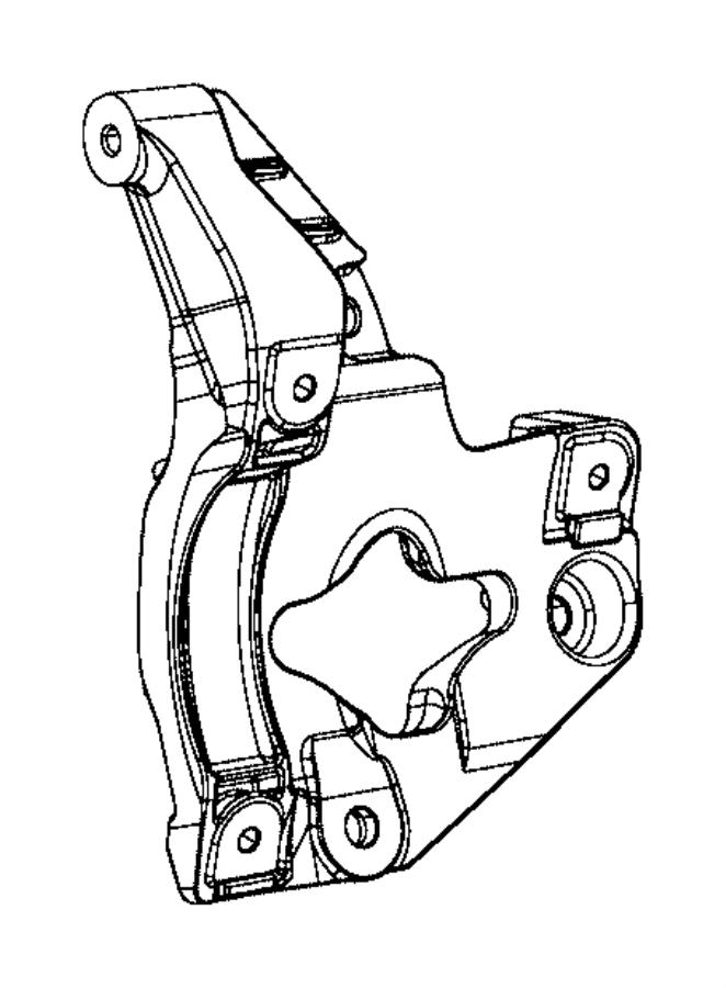 2017 Jeep Grand Cherokee Bracket. A/c compressor/idler