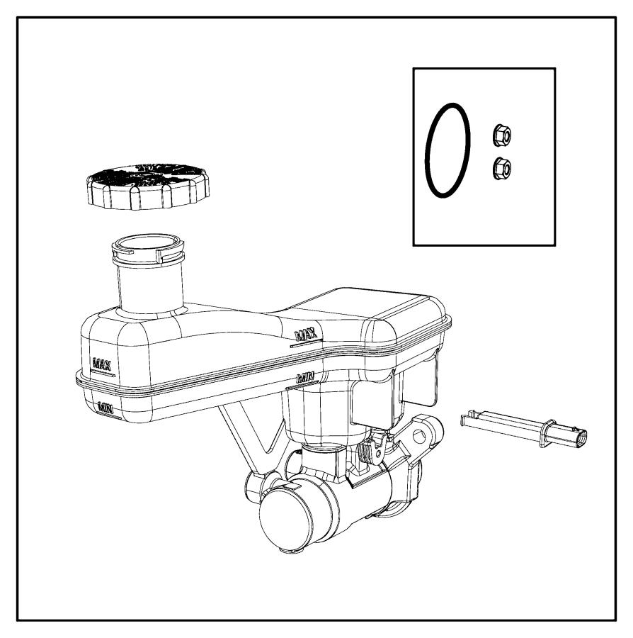 2018 Chrysler Pacifica Master cylinder. Brake. [abs 4